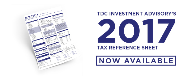 2017 Tax Reference Sheet now Available