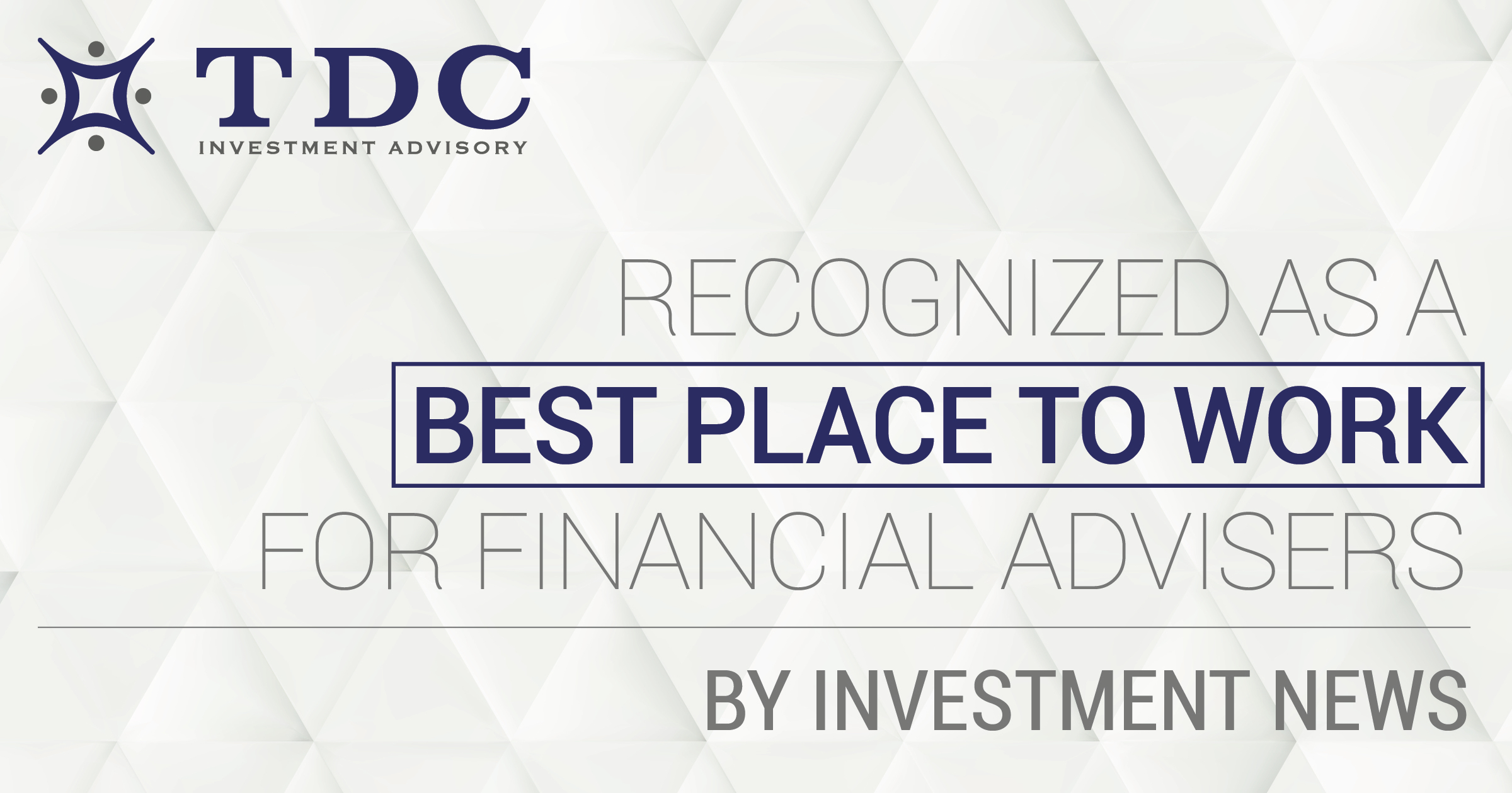 A Best Place to Work for Financial Advisers By Investment News