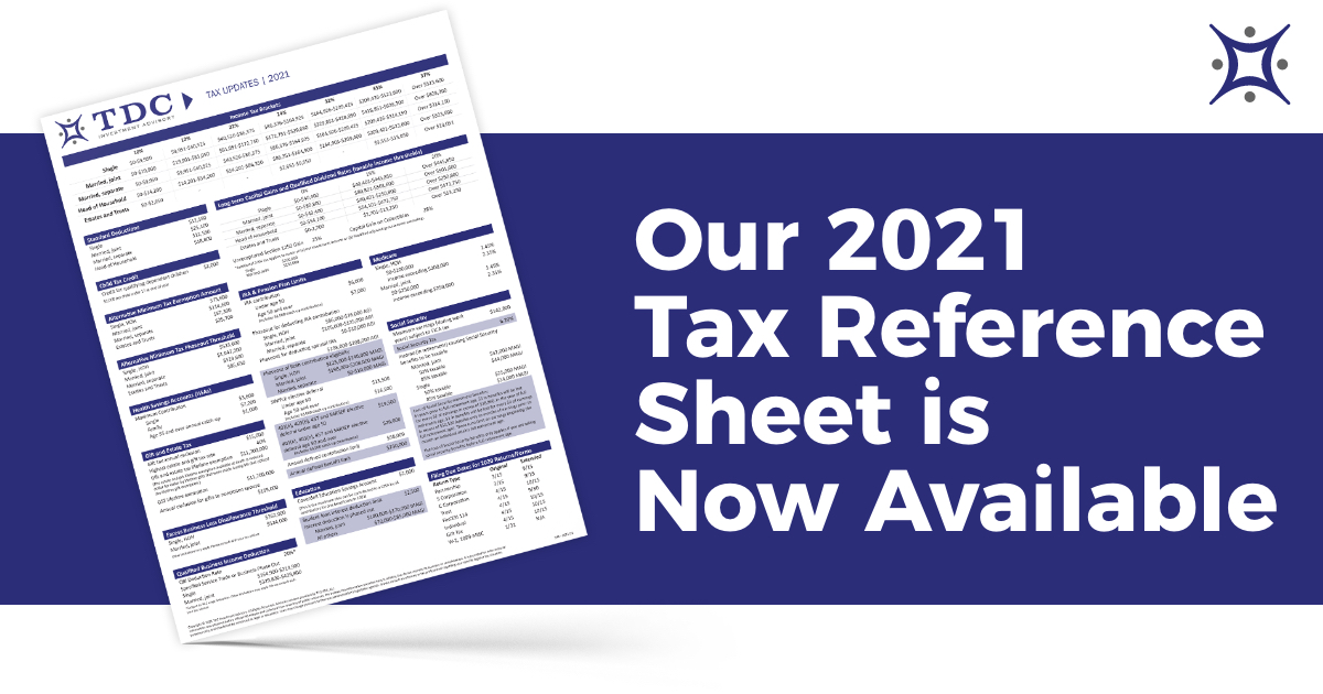 2021 Tax Reference Sheet Now Available